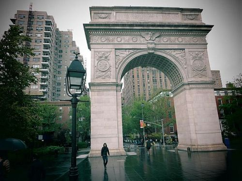 The arch in Washington Square, New York City